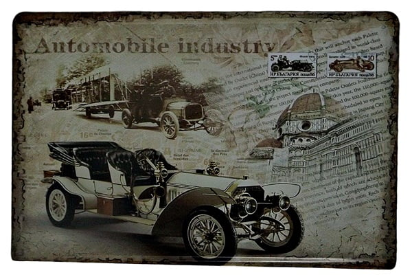 PLACA METAL AUTOMOBILE INDUSTRY