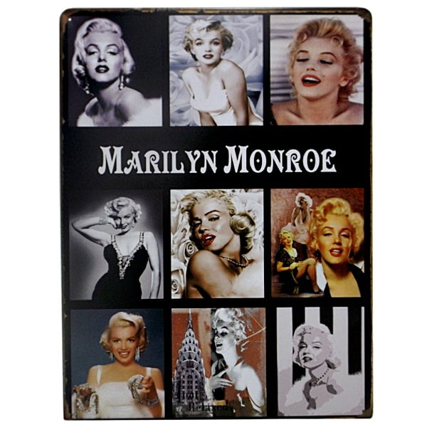 PLACA METAL MARILYN MOMENTS ref.15131