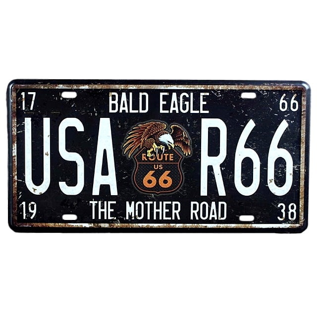 PLACA METAL USA ROUTE 66