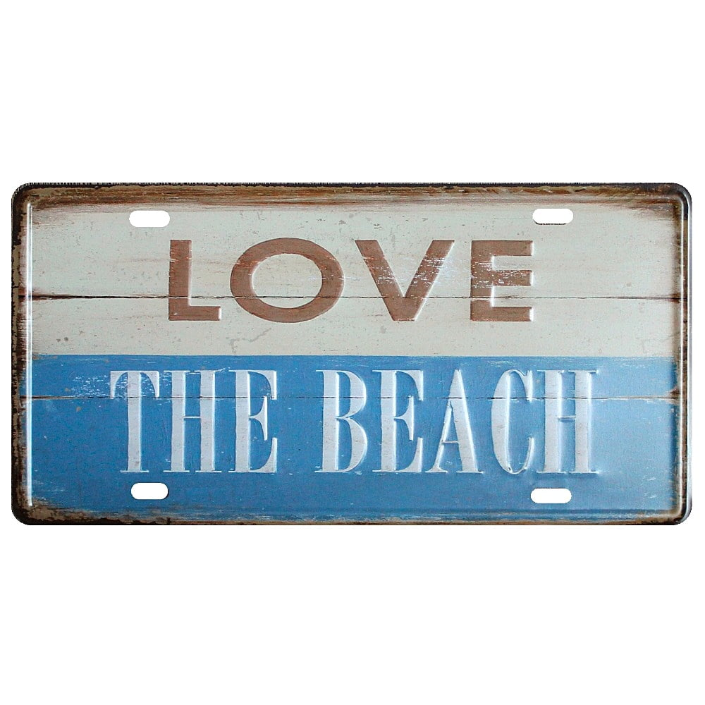 PLACA METAL LOVE THE BEACH