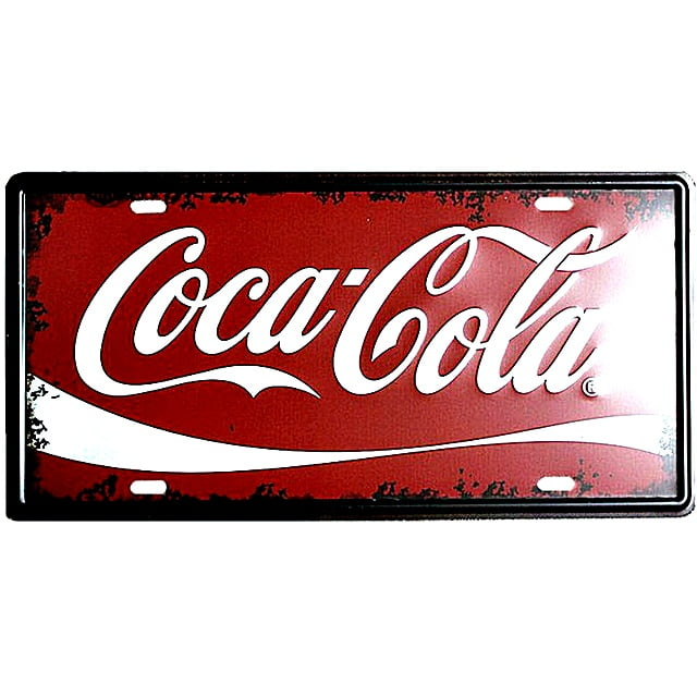 PLACA METAL LOGO COCA COLA