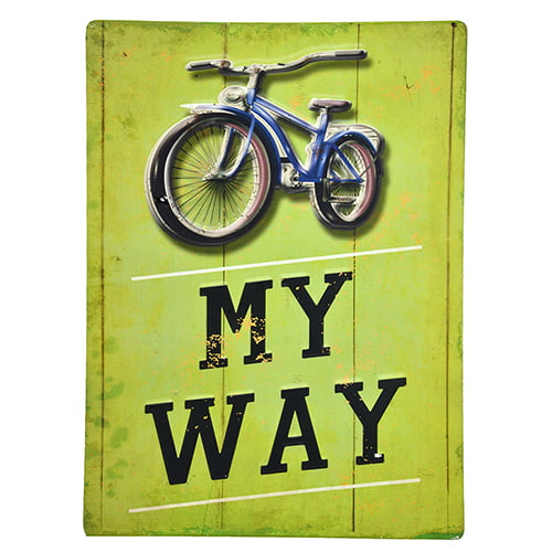 PLACA DECORATIVA METAL BIKE MY WAY 25x34cm