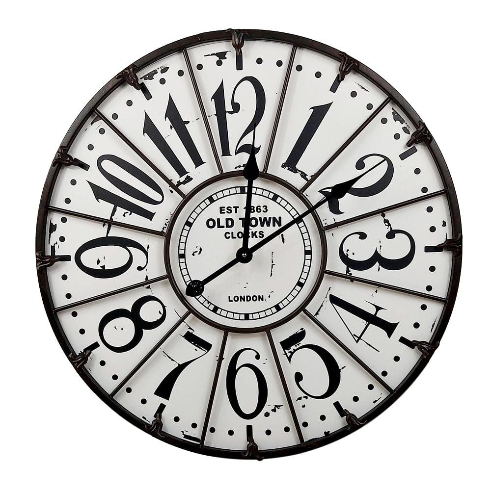 Relógio De Parede Mdf 60cm Relógio De Parede Grande Vintage