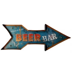 SETA METAL DECORATIVA COM LED BEER BAR