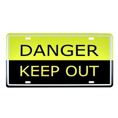 PLACA METAL DANGER KEEP OUT