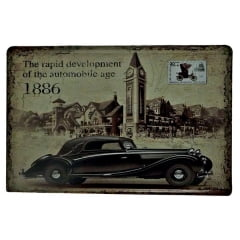 PLACA METAL 1886 AUTOMOBILE AGE