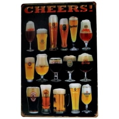 PLACA METAL CHEERS