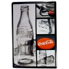PLACA METAL COCA COLA MINI