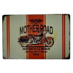 PLACA METAL MOTHER ROAD R66