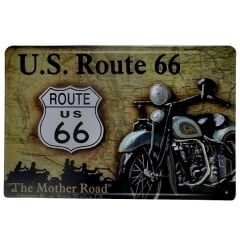 PLACA METAL U.S. ROUTE 66
