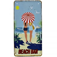 PLACA DECORATIVA METAL BEACH BAR
