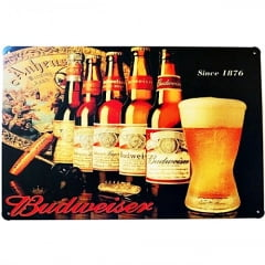 PLACA DECORATIVA METAL BUDWEISER SINCE 1876