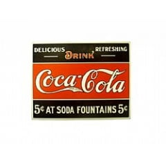 PLACA METAL VINTAGE COCA COLA DRINK