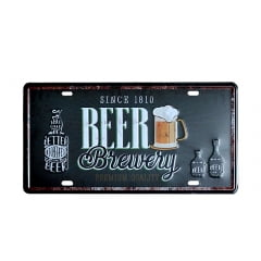 PLACA DECORATIVA METAL BEER BREWERY