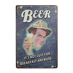 PLACA DECORATIVA METAL BEER