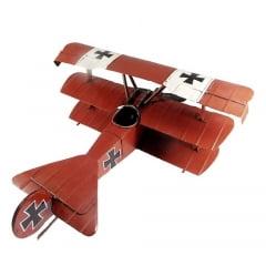 Avião Miniatura de Metal Vintage e Retrô ref.340