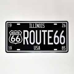 PLACA METAL ILLINOIS ROUTE 66