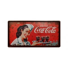 PLACA METAL DRINK COCA COLA