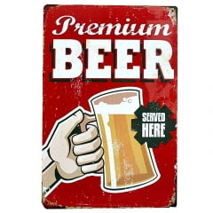 PLACA METAL PREMIUM BEER