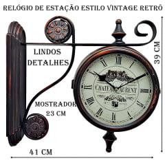 RELÓGIO DE ESTAÇÃO CHATEAU LAURENT ref. 1.011