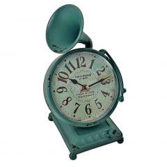 Relógio De Mesa Estilo Gramofone